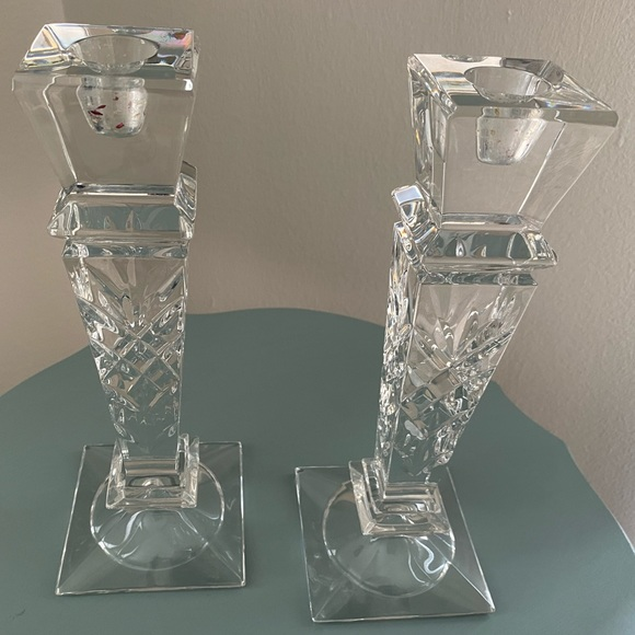 Other - Vintage Crystal Candlesticks